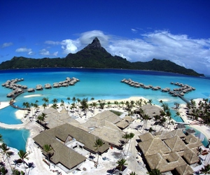 bora bora, beach, and sea image