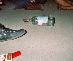 grunge, bottle, and cigarette image