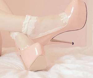 girl, pastel, and shoes image