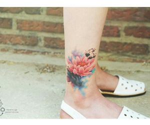 flowers, korean, and tattos image