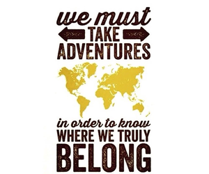 adventures, quote, and wanderlust image