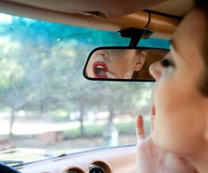 car, lips, and red image