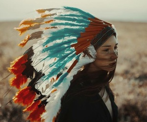 feathers, neverland, and tribal image