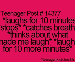 teenager post, quote, and laugh image