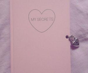 pink, secret, and diary image