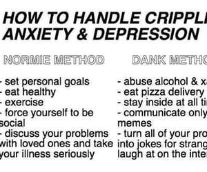 anxiety, depression, and funny image