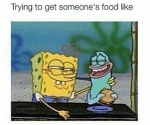 funny, food, and spongebob image