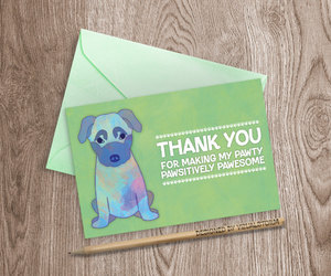 german shepherd, thank you card, and etsy image