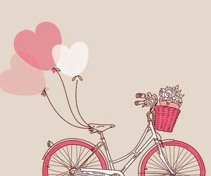 pink, love, and bike image