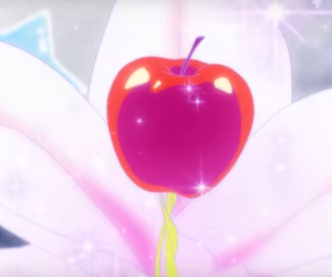 anime, apple, and fruit image