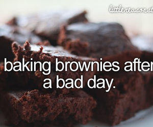 brownies, text, and bad day image
