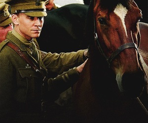 tom hiddleston, horse, and war horse image