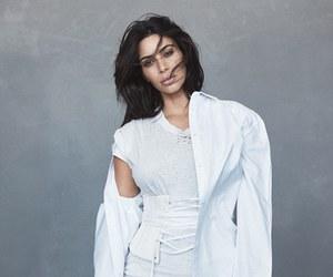 kim kardashian, vogue, and model image