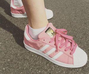 adidas, pink, and fashion image