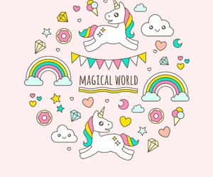 unicorn, magical, and cute image