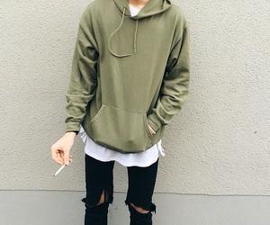 cigarette, fashion, and jacket image