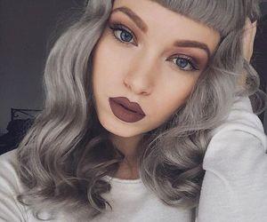 makeup, hair, and grey image