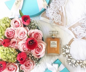 bra, flowers, and gift image