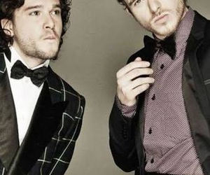 game of thrones, jon snow, and robb stark image