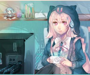girl, chiaki nanami, and super danganronpa 2 image
