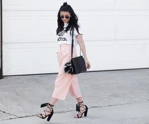adidas, culottes, and fashion blogger image