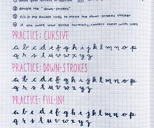school, study, and cursive image