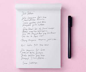 lyric, pastel, and pink image