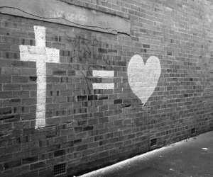 love, god, and heart image