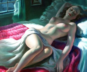 art, femme fatale, and homely image