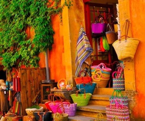 bags, tropical, and bright image