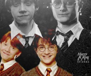 harry potter, ron, and harry image