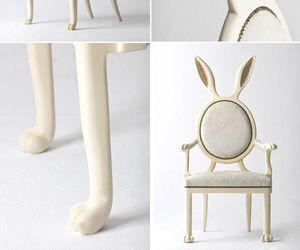 bunny ears, chair, and rabbit ears image