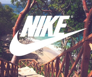 nike, beach, and wallpaper image