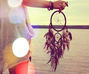 beach, dream catcher, and hand image