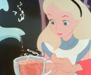 alice in wonderland, cup, and mad image