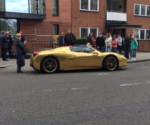cars, london, and gold image