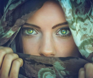 eyes, green, and girl image