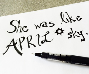 april, art, and calligraphy image