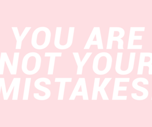 quote, pink, and mistakes image