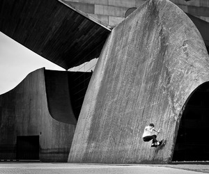 awsome, b&w, and skate image