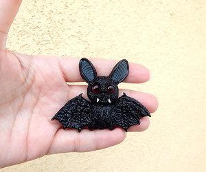 vampire jewelry, bat pin, and bat jewelry image