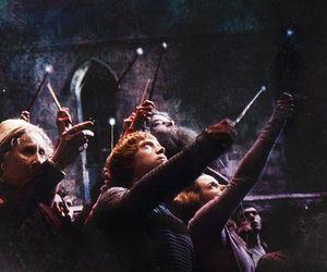 harry potter, hogwarts, and light image