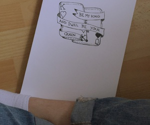 draw, ripped, and jeans image