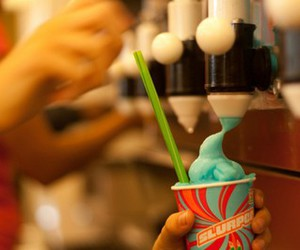 ice cream, blue, and slurpee image
