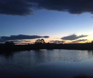 blue, lake, and night image