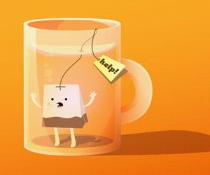 tea, help, and funny image