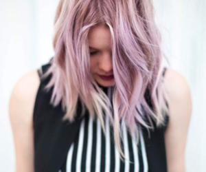 baby pink, blonde, and fashion image