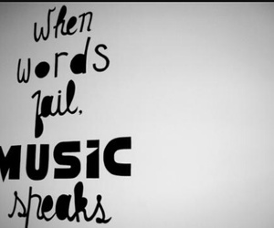 music, music speaks, and words fail image