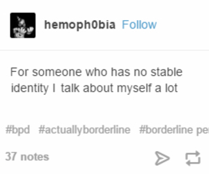 quote, disorder, and identity image