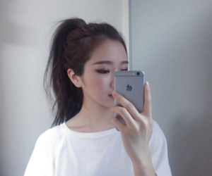 girl, korean, and asian image